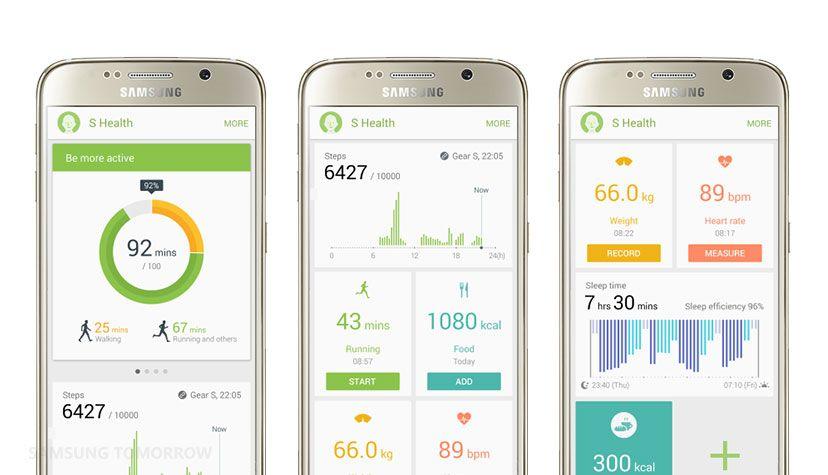 Image: S Health app. Taken from news.samsung.com
